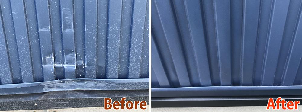 ガルバリウム鋼板外壁の補修
